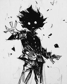 'Mob Psycho 100 - Shigeo' Sticker by alpinande Kunstjournal Inspiration, Character Design Inspiration, Anime Kunst, Anime Art, Art Sketches, Art Drawings, Mob Physco 100, Mob Psycho 100 Anime, Sad Anime