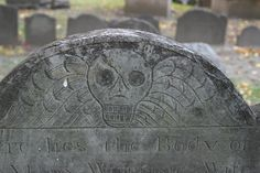 Boston Headstone - Just by looking at the style of a headstone and archaeologist can tell you when it was made.