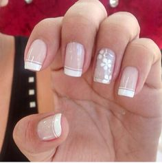Manicure Nail Designs, Nail Manicure, How To Do Nails, Fun Nails, Nail Designs Spring, Beautiful Nail Art, Simple Nails, White Nails, Trendy Nails