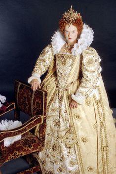 Queen Elizabeth I in Movies & TV – Elizabethan Costume, Elizabethan Fashion, Elizabethan Era, Elizabeth I, Renaissance Mode, Renaissance Fashion, Historical Costume, Historical Clothing, Barbie Y Ken