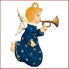 $32.00 Angel with Trumpet Christmas Ornament by Wilhelm Schweizer. Angel Christmas Ornament Playing Trumpet . Hand cast, hand painted, imported Pewter Christmas Ornament from Germany. Painted on both sides. Ornament comes with Gift Pouch and Hanging Ribbon. Colors may vary from the image shown since each piece is individually hand painted. Approx. 2.5″ Free Shipping …