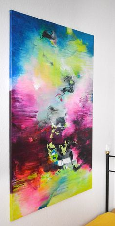 Original XL abstract painting paintings on canvas by ARTbyKirsten