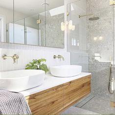 Timber Bathroom Vanities, Timber Vanity, Ensuite Bathrooms, Laundry In Bathroom, Modern Bathroom, Master Bathroom, Bathroom Inspo, Bathroom Inspiration, Bathroom Ideas
