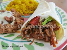 The Country Cook: Crock Pot Mexican Shredded Beef