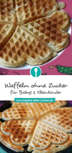 Waffeln für Babys und Kleinkinder ohne Zucker Healthy waffles for babies and toddlers without sugar! They also taste the whole family. The post Waffles for babies and toddlers without sugar appeared first on Leanna Toothaker. Baby Snacks, No Bake Snacks, Baby Food Recipes, Gourmet Recipes, Snack Recipes, Healthy Waffles, Healthy Snacks, Healthy Recipes, Clean Eating Recipes