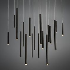 A 18-light linear led chandelier from the Santana collection- Eurofase