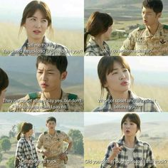 #DecendantOfTheSun It's basically all shade throwing