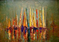 "Saatchi Online Artist: Justyna Kopania; Oil, 2011, Painting ""Boats"""