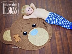 Classic Bear Rug Crochet Pattern for Nursery or PlayRoom by IraRott