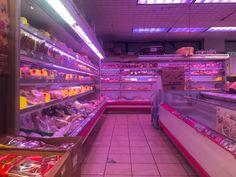 Supermarket in Chinatown : aesthetic Purple Aesthetic, Retro Aesthetic, Aesthetic Photo, Aesthetic Pictures, Vaporwave, Japon Tokyo, Nostalgic Pictures, Different Aesthetics, Weird Dreams