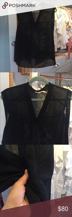 T by Alexander Wang 💥 V-neck top Amazing long top from the genius of cool downtown fashion. This top is an Amazing basic piece! 👚🕶 **Like new** Longer in the back. Beautiful straight cut. T by Alexander Wang Tops