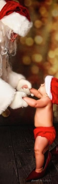 Santa and baby's first christmas
