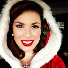 Love the hood, so pretty. Christmas pinup