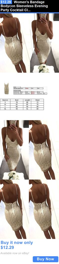 Clubwear: Womens Bandage Bodycon Sleeveless Evening Party Cocktail Club Short Mini Dress BUY IT NOW ONLY: $12.29