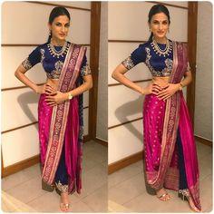 dhoti saree style how to wear / dhoti saree + dhoti saree style + dhoti saree how to wear + dhoti saree anamika khanna + dhoti saree wedding + dhoti saree style how to wear + dhoti saree style indian weddings + dhoti saree sonam kapoor Dhoti Saree, Drape Sarees, Anarkali, Lehenga Choli, Salwar Kameez, Saree Wearing Styles, Saree Styles, Dress Indian Style, Indian Dresses