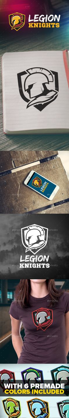 Legion Knights Logo — Photoshop PSD #warrior #powerful • Available here → https://graphicriver.net/item/legion-knights-logo/15491614?ref=pxcr