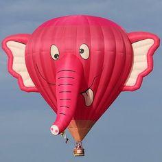 Pink Hot Air Elephant Balloon