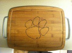 Clemson cutting board