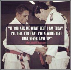 Black belt mentality.