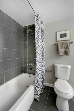 Exceptional #FlippedHouse in #WestSeattle | Stacey Lange, Windermere #RealEstate  | Bathroom withGrey and Navy