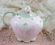 Sweet Little Teapot by RomancingTheTeapot on Etsy, $59.95