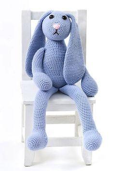One Skein Bunny - Free by Deb Richey of Crafty Deb   Bunny Rabbits Part 1 - Animal Crochet Pattern Round Up - Rebeckah's Treasures