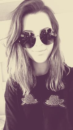 #girl #young #polish #brunette #short #hair #cute #glasses #sunglasses #yolo