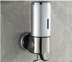 Modern Bathroom 500ML Stainless Steel Wall Mounted Liquid Shampoo/ Soap Dispense #loostarwater