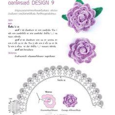 New crochet jewelry patterns necklace simple ideas Crochet Flower Tutorial, Crochet Diy, Irish Crochet, Crochet Motif, Crochet Crafts, Crochet Doilies, Simple Crochet, Diy Crafts, Crochet Jewelry Patterns