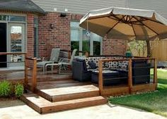 small wooden deck plans - Google Search