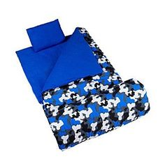 Wildkin Blue Camo Original Sleeping Bag