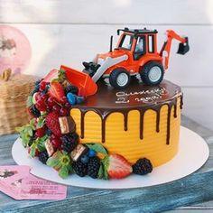Farm Birthday Cakes, Toddler Birthday Cakes, Construction Party Cakes, Cupcake Cakes, Cupcakes, Cartoon Cakes, Cakes For Boys, Cake Toppings, Creative Cakes
