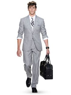 Versace Runway Light Grey Suit