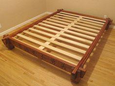 Asian Inspired Platform Bed - by silverhalo @ LumberJocks.com ~ woodworking community