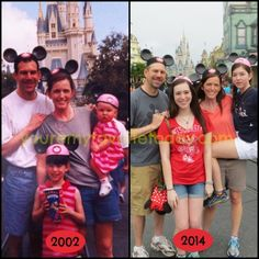 My family went around the Disney parks recreating old photos. We got judged. It's OK, we're used to it.