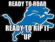 DETROIT LIONS Ready to roar #onepride