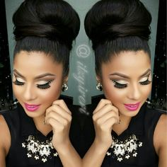 ♡I love this up do and I wonder if I can make it happen with my fake locks???