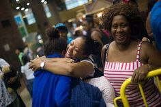 The New York Times showing us some love this morning... Tracey reunites with her daughter Leah at yesterday's Camp Mariah return!