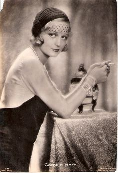 Camilla Horn, silent film star of the 1920s. She was from Germany and also had many movie and TV credits through 1990, according to IMDb,