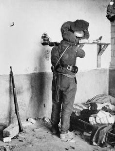Madrid. Battle at the university campus. November 1936//Robert Capa