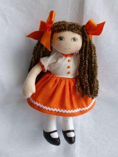 FLEUR. A 12ins rag/cloth handmade OOAK doll by Brenda Brightmore. | eBay