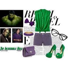 """Hulk"" by catching-fire on Polyvore"