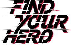Team beyond find your hero logo. Typographic Design, Typography Logo, Graphic Design Typography, Lettering, Hero Logo, Calligraphy Text, Word Design, Sport Quotes, Game Logo