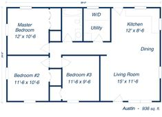 image result for 30x40 metal building house plans   home