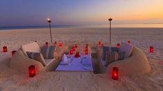 Una cena perfecta en la playa.