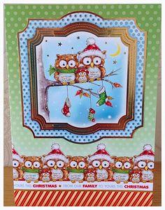 Tinkerbell Vintage Cutie Christmas Card Design. Handmade Decoupage Christmas Card. Handmade Christmas Card. Owl. by TinkerbellVintage on Etsy https://www.etsy.com/uk/listing/480128671/tinkerbell-vintage-cutie-christmas-card