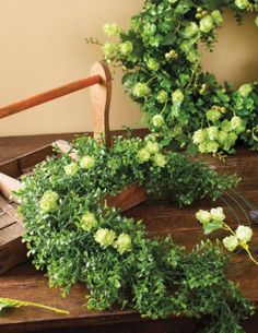 Make your own green garden wreath for your door this fall with our simple tutorial! | Home Decor | Fall Decor | DIY Wreath @ joann.com!