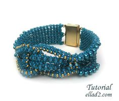 Beautiful and unique bracelet all done in Cubic RAWBeading Tutorial for Knotty Bracelet is very detailed, step by step with photos