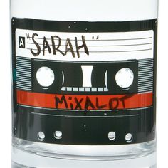 MIXTAPE GLASSES - SET OF 6 | Cassette Tape Printed Glassware | UncommonGoods