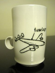 """""""Fuselage"""" ceramic cup by #SCAD alumna Irene McCollam, $20. Each stamped with artist name and #Savannah, Georgia pic.twitter.com/kNiS5IaY @shopSCAD"""